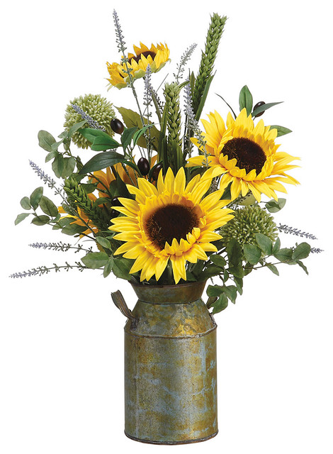 Sunflower Lavender Olive D 233 Cor Set Modern Artificial