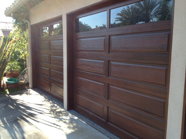 garage doors facelift wood grain faux finish san diego