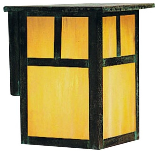 Mission outdoor wall sconce by arroyo craftsman modern for Modern craftsman lighting