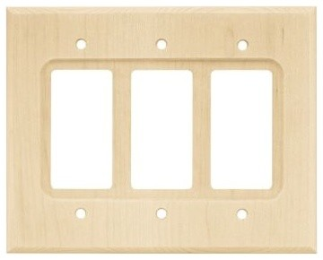 Liberty Hardware 65171 Wood Square WP Collection 5.67 Inch Switch Plate modern-switch-plates-and-outlet-covers