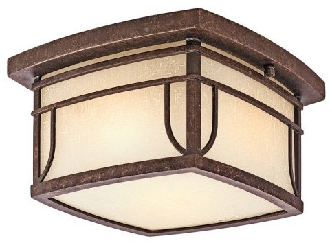 Kichler Riverbank 4915 Outdoor Ceiling - Aged Bronze contemporary-outdoor-lighting