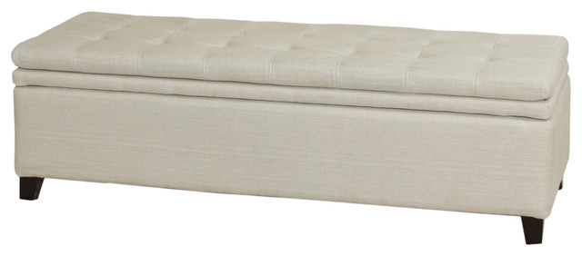 Sandford Storage Ottoman Bench traditional-upholstered-benches