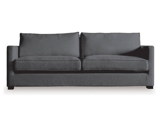 Gus Modern - Gus Modern Richmond Sofa Lattice Granite - Here's a sofa to make you feel truly at home. Its easy-elegant design, down-filled, French-seam cushions and solid-wood block feet invite you as well as guests to relax in style.