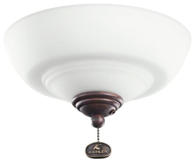 Kichler Lighting Decor Bowl 42-46 Ceiling Fan Light Kit X-ZT421083 contemporary-ceiling-fan-accessories