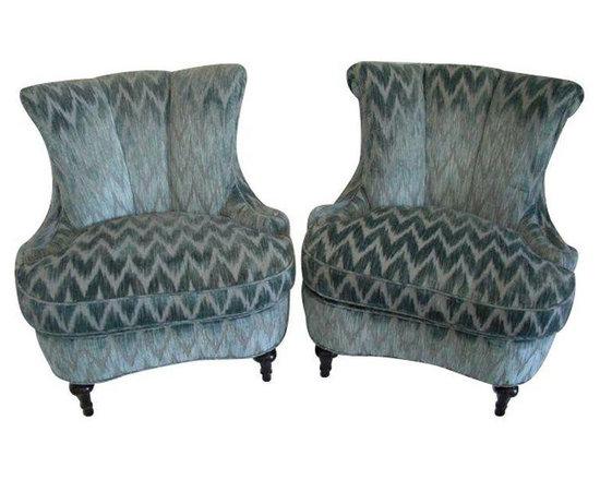 1940's Slipper Chairs in Clarence House Velvet - $8,500 Est. Retail - $2,400 on -