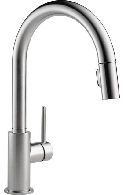 Delta Trinsic Arctic 1 Handle Pull Down Kitchen Faucet