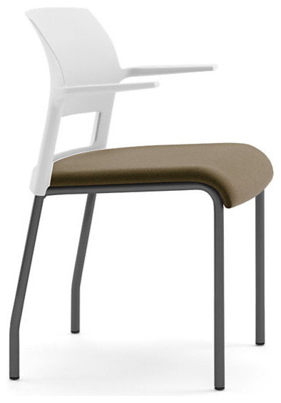 Steelcase Move Multi-Use Chair, Black Frame w/Arms &Glides modern-office-chairs