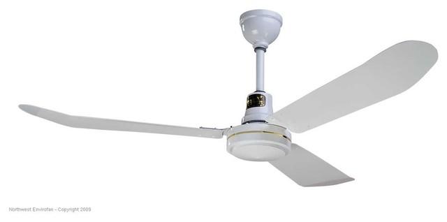 "Envirofan 160F-7 Gold Line White 56"" Ceiling Fan contemporary-ceiling-fans"