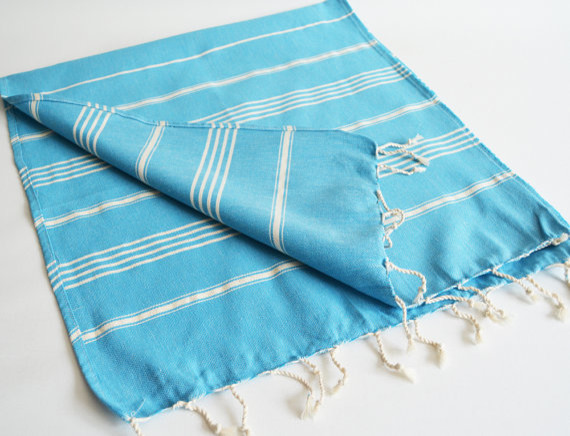 Head And Hand Towel Peshkir Blue And White Striped By Bath Style Contemporary Towels By Etsy