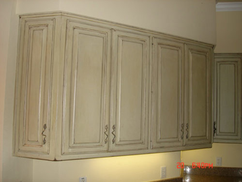Antique Cabinet Refinish - Faux Painting - Traditional - austin - by ...