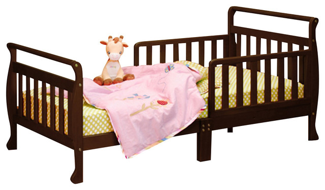 AFG Baby Anna Toddler Bed in Espresso traditional-toddler-beds