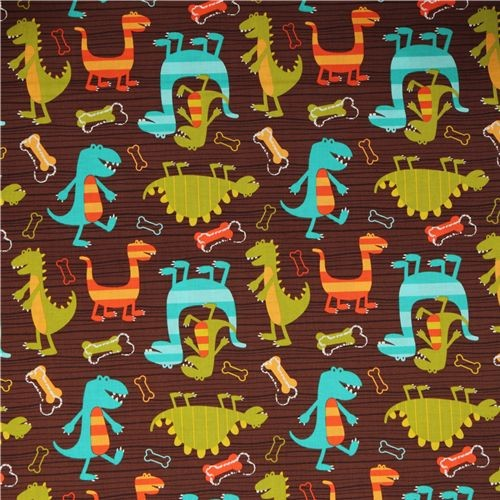 Michael miller fabric dino dudes cute dinosaur nursery decor for Dinosaur fabric