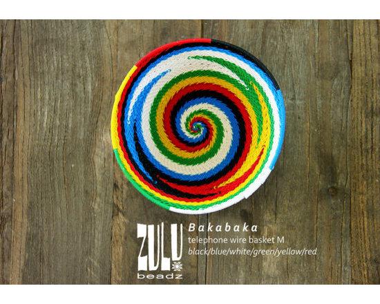Bakabaka Woven Zulu Telephone Wire Medium Bowl by Zulu Beadz -