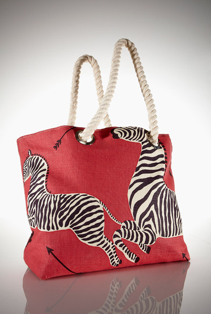 Zebra Fabric Tote eclectic accessories and decor