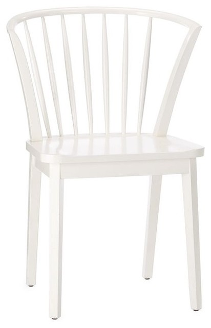 Modern Windsor Dining Chair, White Finish modern-dining-chairs