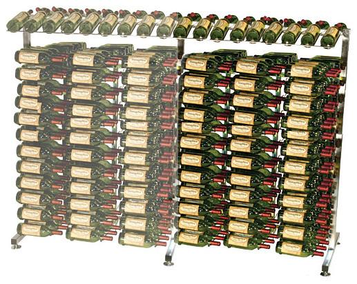 VintageView 234 Bottle Island Extension Metal Wine Rack contemporary-wine-racks