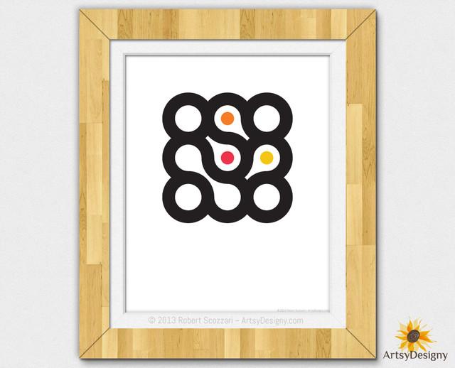 It Was Circles 3x3 #9 Modern Art Abstract Art Midcentury modern-artwork