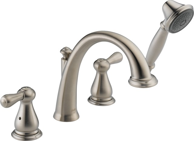 Delta Tub Faucet : Delta T4775-SS Leland Roman Tub Faucet Trim with Handshower in ...