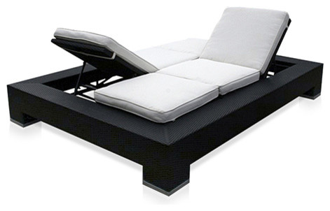 Outdoor Duo Convertible Lounger Outdoor Convertible lounger modern-outdoor-chaise-lounges