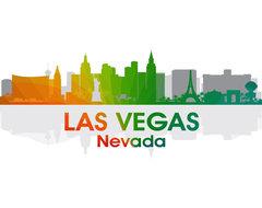 Las Vegas NV Rainbow Spectrum Print contemporary-prints-and-posters