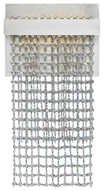 "LBL Mademoiselle Single 11"" High Satin Swarovski LED Sconce contemporary-wall-sconces"