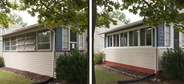 Replacement Vinyl Windows Before & After windows