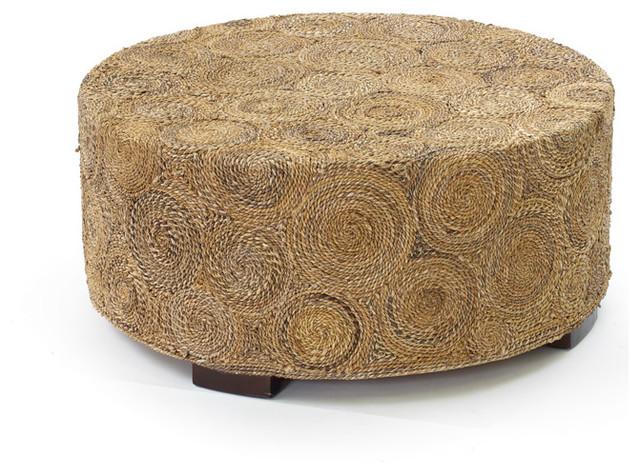 Natural Finish Wood Raffia Coffee Table coffee-tables