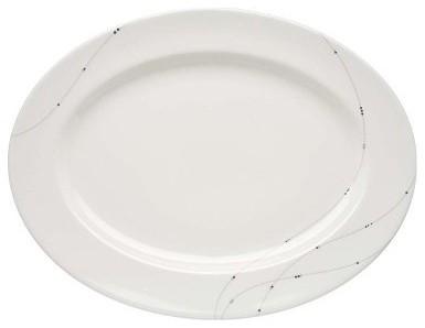 Lenox Twirl 16 in. Oval Platter modern-platters