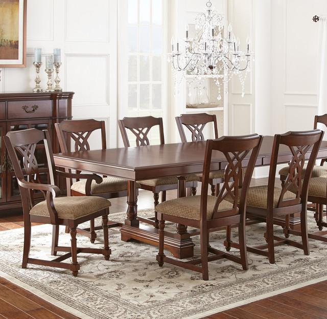 Steve Silver Harmony 7 Piece Oval Dining Room Set In: Steve Silver Archer 7 Piece Dining Room Set In Medium