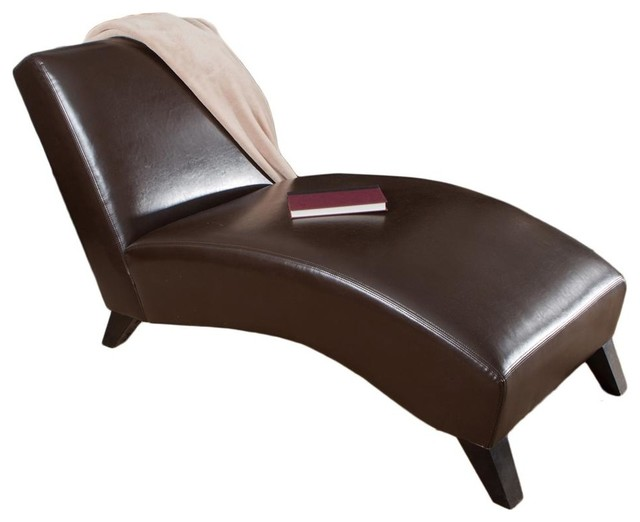 Charlotte chaise lounge in neutral brown fini - Designer chaise lounge chairs ...