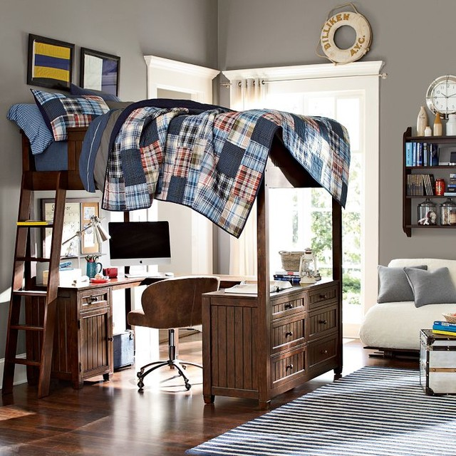 Beadboard Loft Bed Beds Other Metro By Pbteen