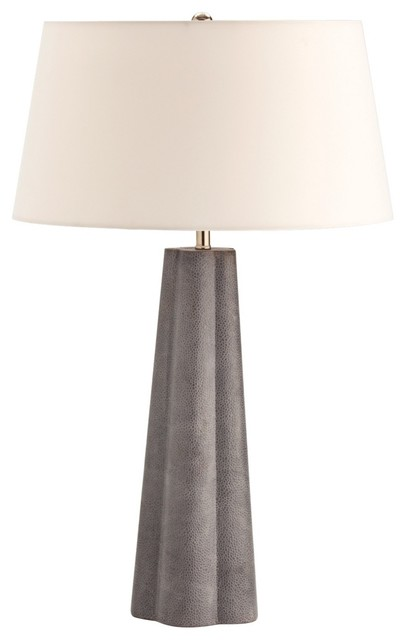 Contemporary Arteriors Home Lawton Shagreen Leather Table Lamp contemporary-table-lamps