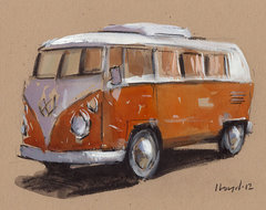 Original Painting VW Bus By Lloyd Gallery eclectic artwork