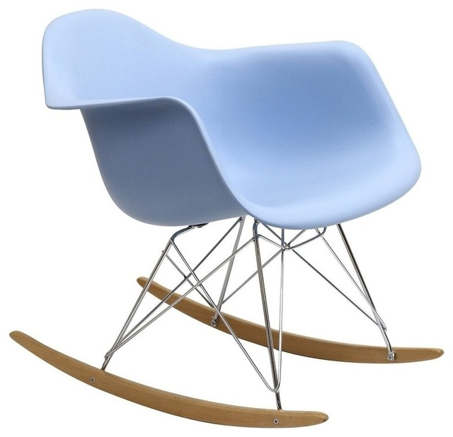 Modern blue plastic rocking chair boden midcentury rocking chairs