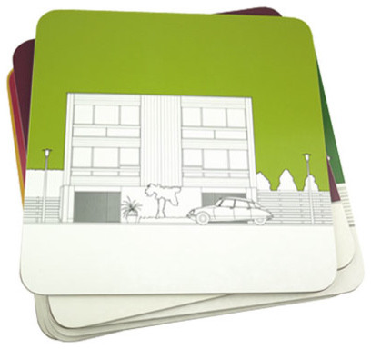 Architectural Placemats - Set contemporary-tabletop