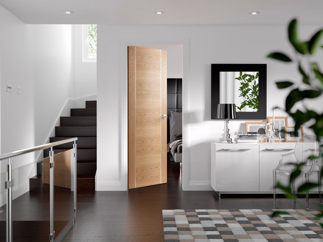 Forli oak internal door contemporary interior doors for Designer interior doors uk