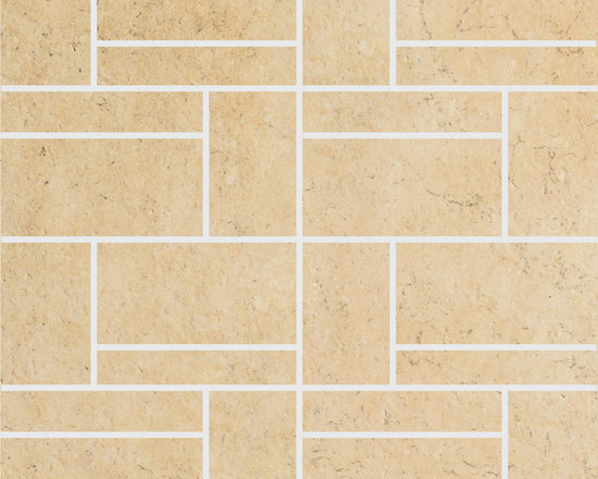 Limestone Collection Cream Gold Design 2 Mosaics -