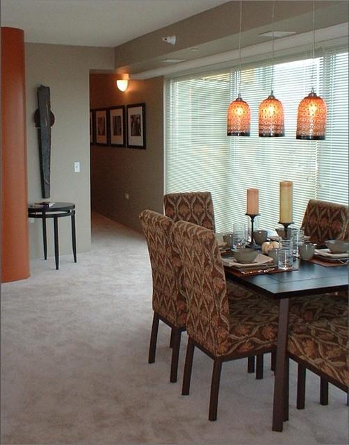 Hi-Rise Condo contemporary-dining-room