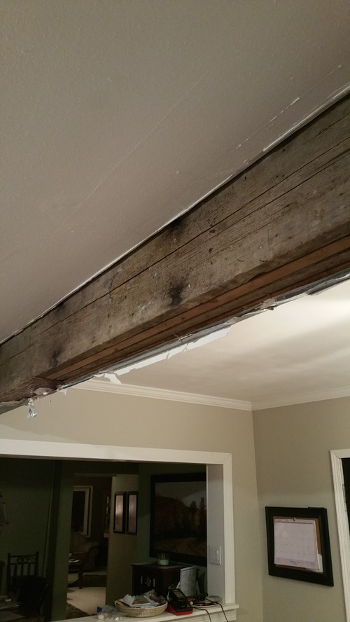 Support Beam in my Kitchen....can you restore a composite beam?