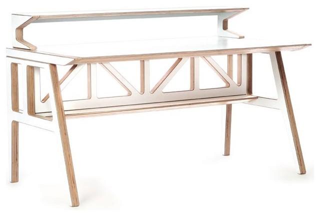 Context Furniture - Truss Library Desk modern-desks-and-hutches