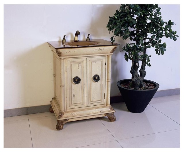 28 bathroom vanity lf60 in ivory antique white traditional bathroom