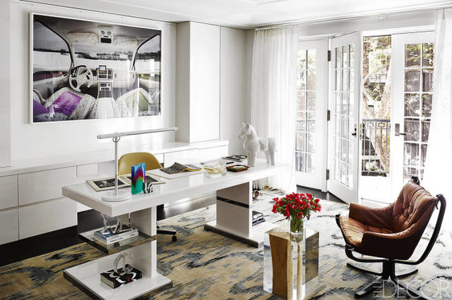 Jim Aman John Meeks Office Design in Elle Decor