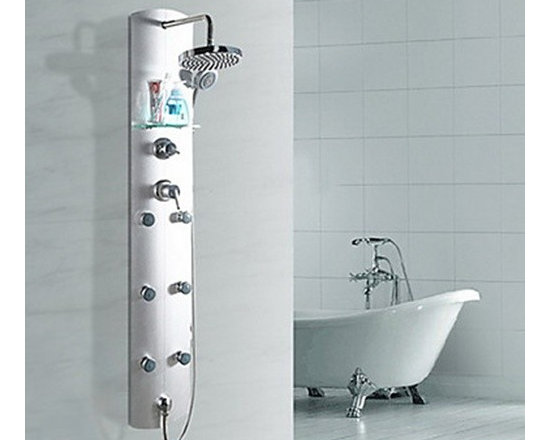 Shower Faucets - 60 Inch Chrome Finish Contemporary Zinc Alloy Shower Faucet--FaucetSuperDeal.com