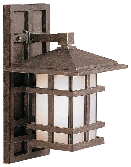 Outdoor Lighting Fixtures Arts And Crafts KICHLER Cross Creek Arts And Crafts Mission Outdoor Wall Sconce X ZGA9219 T