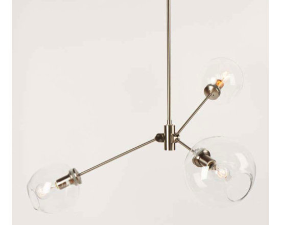 Lindsey Adelman 3 Globe Stacking Bubble Chandelier -