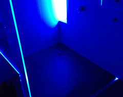Blue Shower Lighting modern-bathroom-lighting-and-vanity-lighting