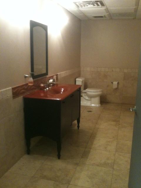 Denver Showroom traditional-bathroom