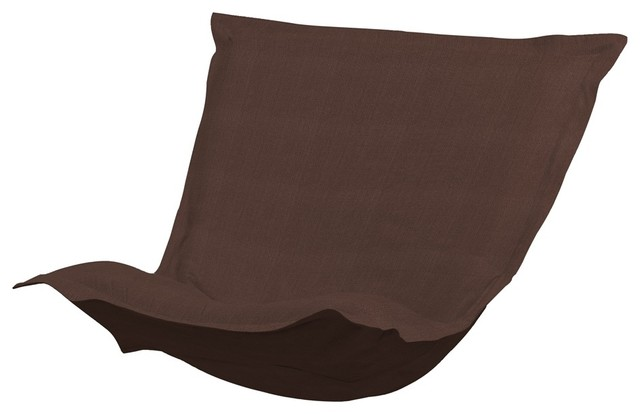 Sterling Chocolate Puff Chair Cushion contemporary-dining-chair-cushions