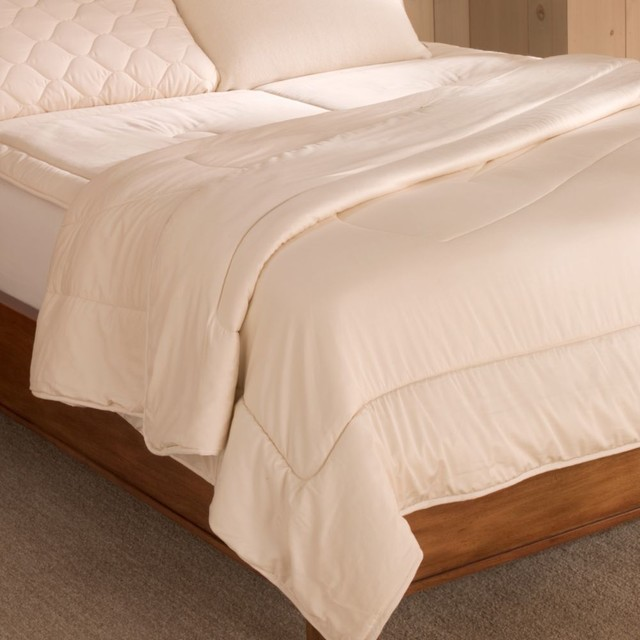 organic wool-filled comforter traditional-quilts-and-quilt-sets