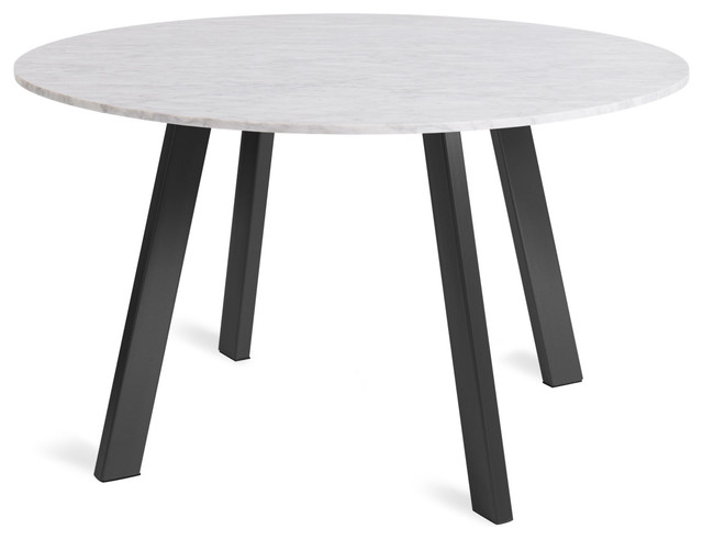 Round 52 Marble Dining Table Black Modern Dining Tables By Blu